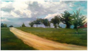 art painting country road in gettysburg