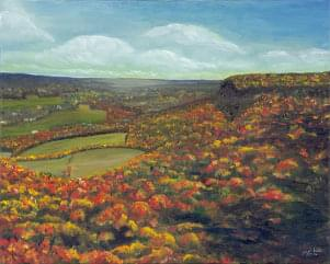 art painting of landscape in the fall