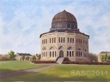 art painting of a dome shaped structure