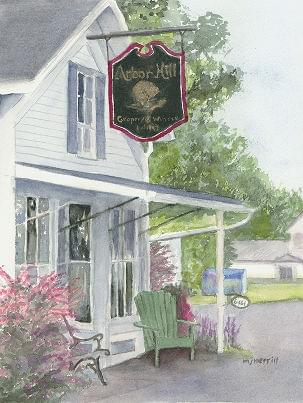art painting of arbor hill winery