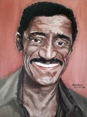 art painting of sammy davis, jr