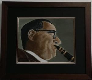 art painting of benny goodman