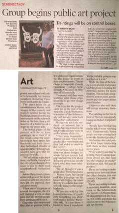 Picture of Schenectady Gazette Newspaper article