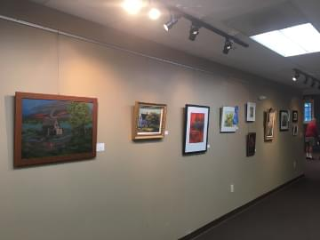 artists paintings on the wall